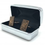 Gold Cufflinks in box 04b