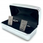 Silver Cufflinks in box 05b