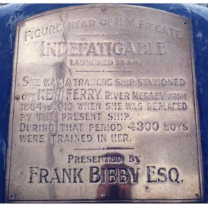 Plaque at the back of the King Billy Figurehead